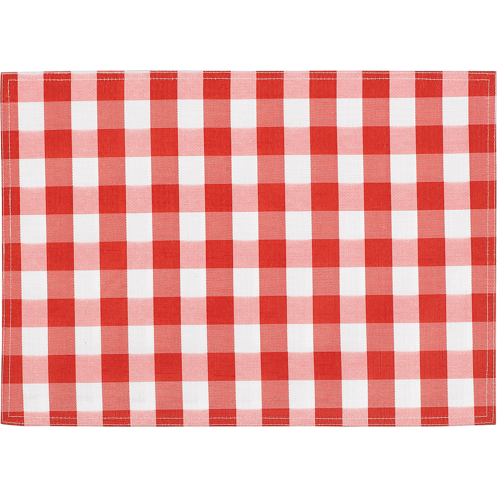 Red Gingham Placemat Image #1