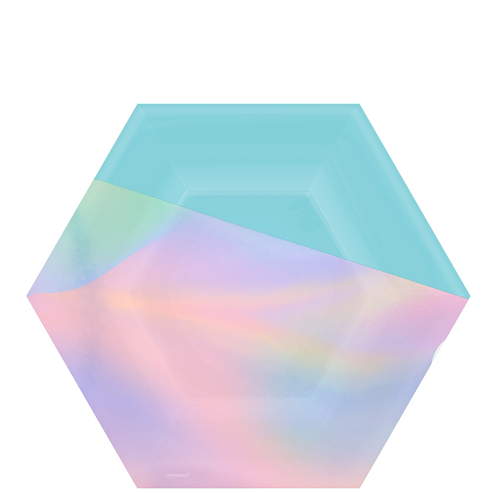 Shimmering Party Hexagon Lunch Plates 8ct Image #1