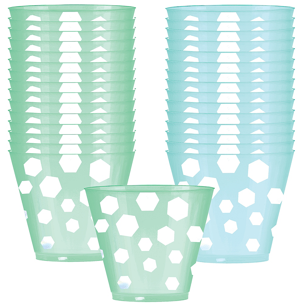 Nav Item for Shimmering Party Plastic Cups 30ct Image #1