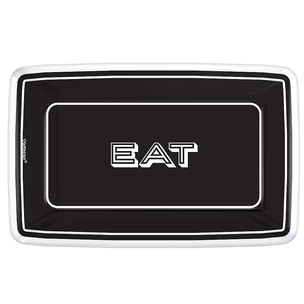 Eat & Enjoy Rectangle Dessert Plates 8ct Image #1