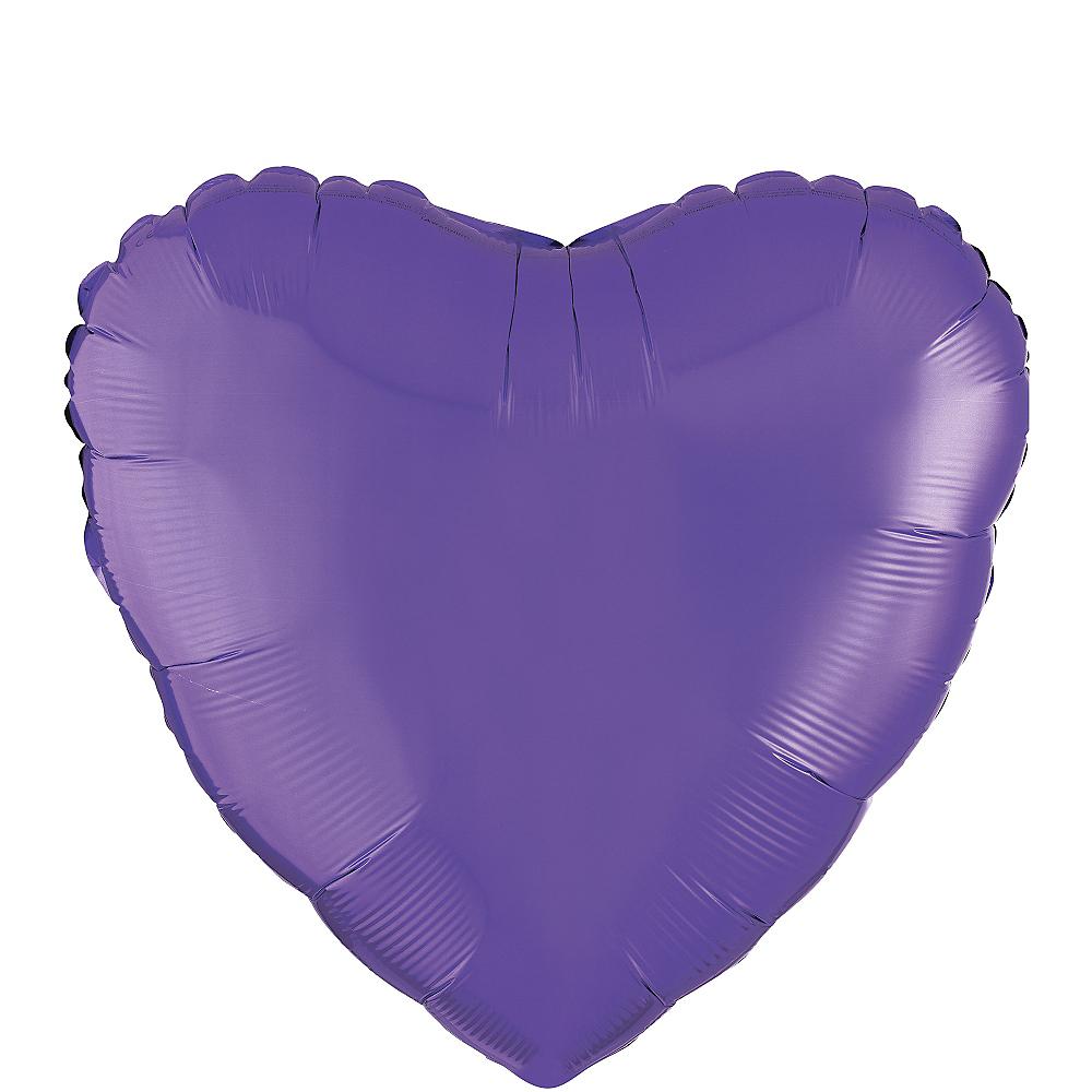 17in Purple Heart Balloon Image #1