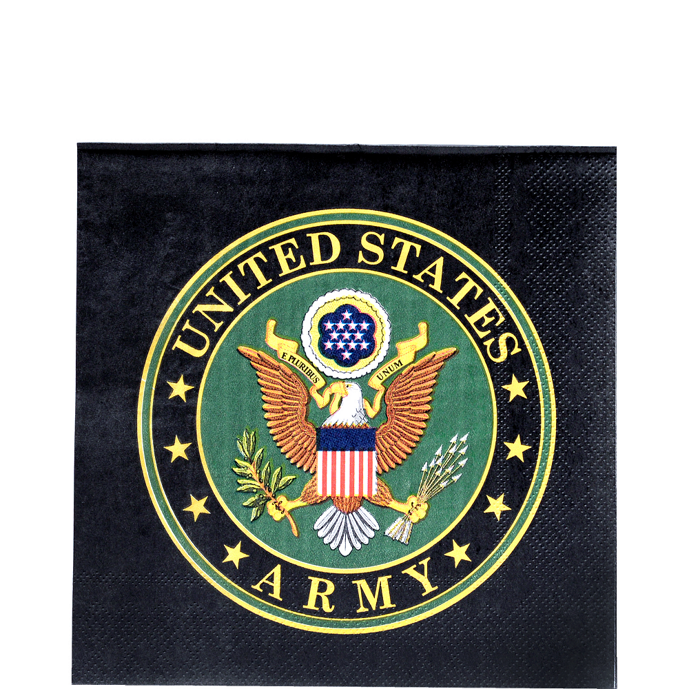 US Army Lunch Napkins 16ct Image #1