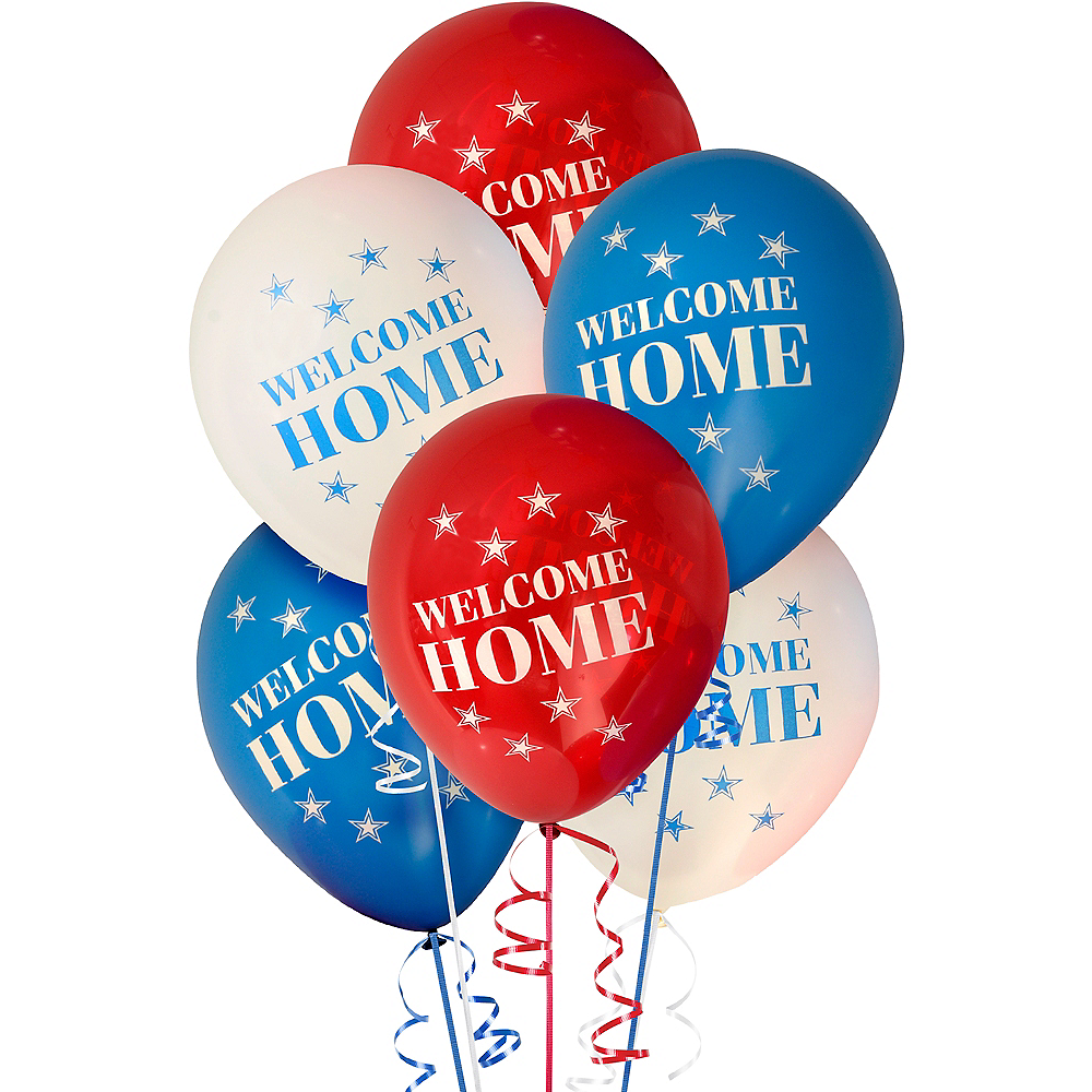US Military Welcome Home Balloons 6ct Image #1