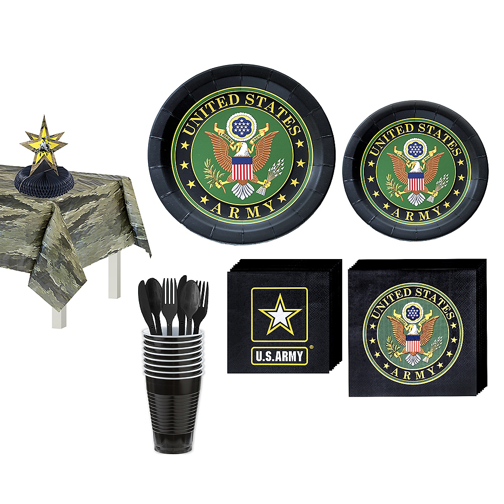US Army Party Kit for 16 Guests Image #1
