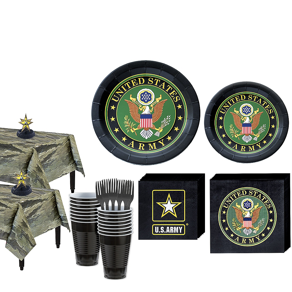US Army Party Kit for 32 Guests Image #1
