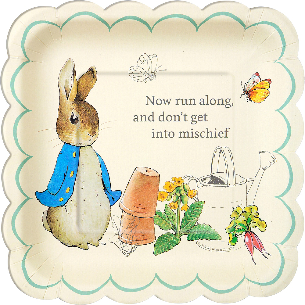FREE P/&P Adorable Easter Peter Rabbit Party Items