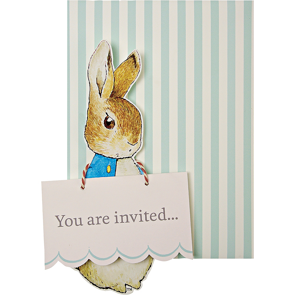 Peter Rabbit Invitations 8ct Image #1