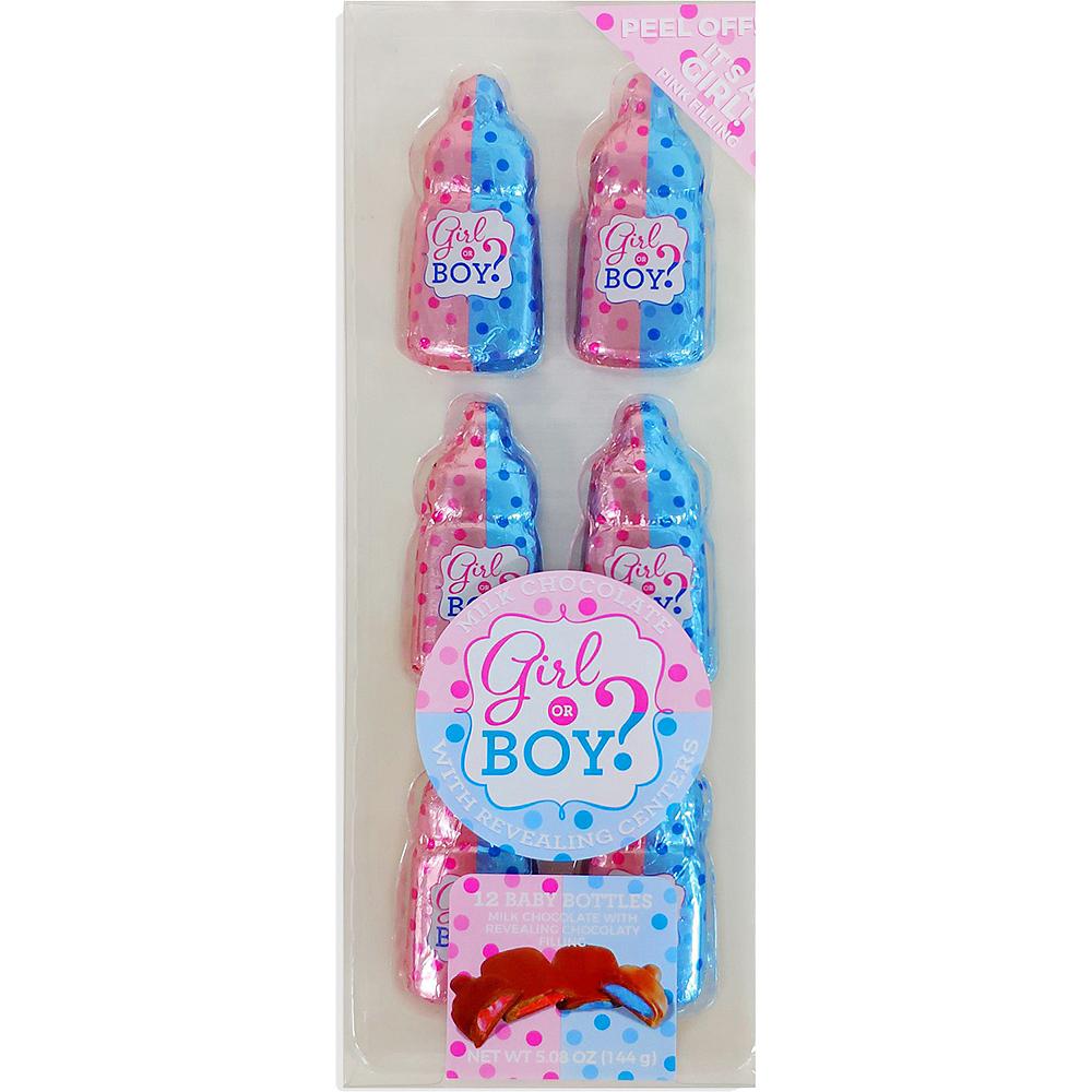 Milk Chocolate Girl Gender Reveal Bottles 12ct Image #1