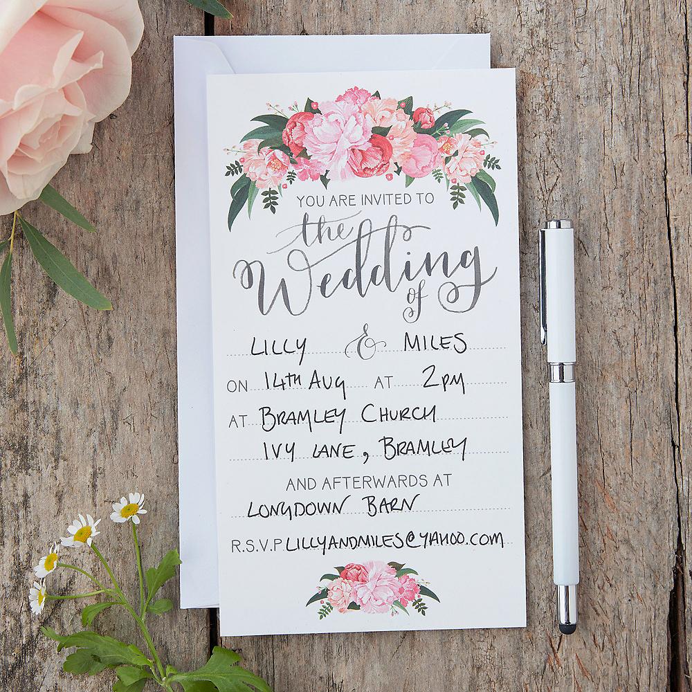 Ginger Ray Floral Boho Wedding Invitations 10ct Image #1