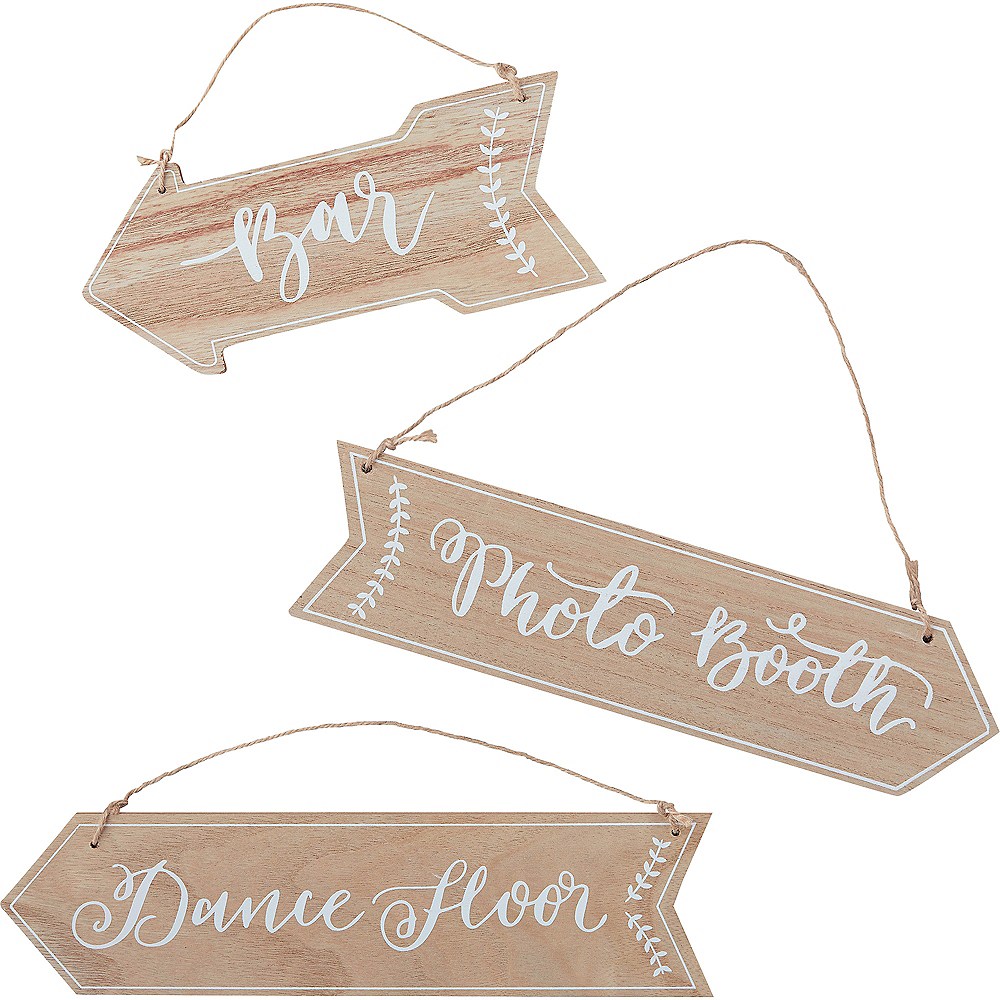 Nav Item for Ginger Ray Boho Wedding Arrow Signs 3ct Image #2