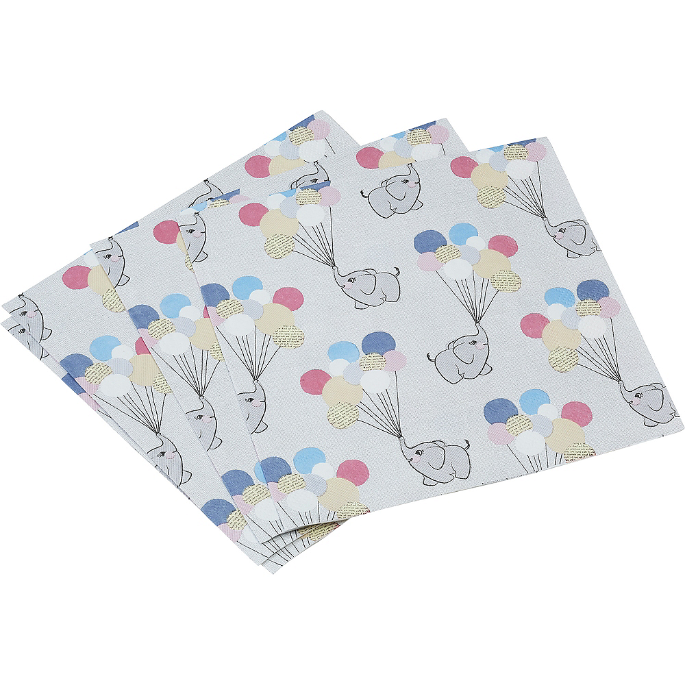 Ginger Ray Elephant Baby Shower Lunch Napkins 20ct Image #2