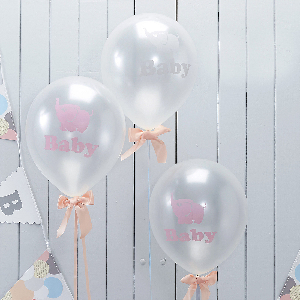 Ginger Ray Elephant Baby Shower Balloons 10ct Image #1