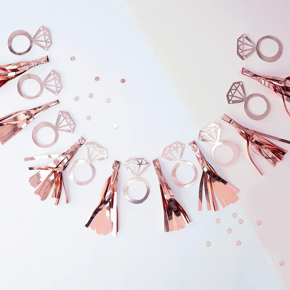 Ginger Ray Team Bride Rose Gold Tassel Garland Image #1