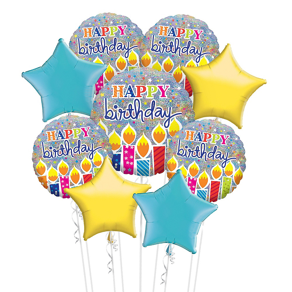 Nav Item for Prismatic Birthday Balloon Bouquet Kit 10pc Image #1