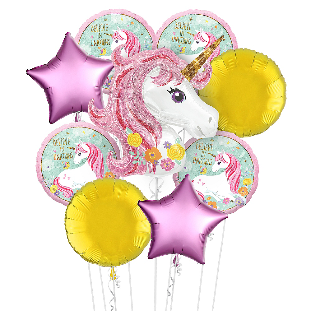 Nav Item for Magical Unicorn Balloon Bouquet Kit 17pc Image #1