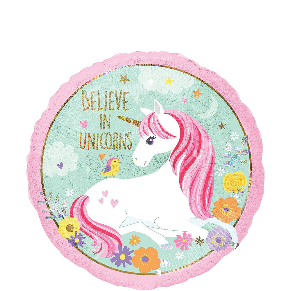 Nav Item for Magical Unicorn Balloon Bouquet Kit 17pc Image #3
