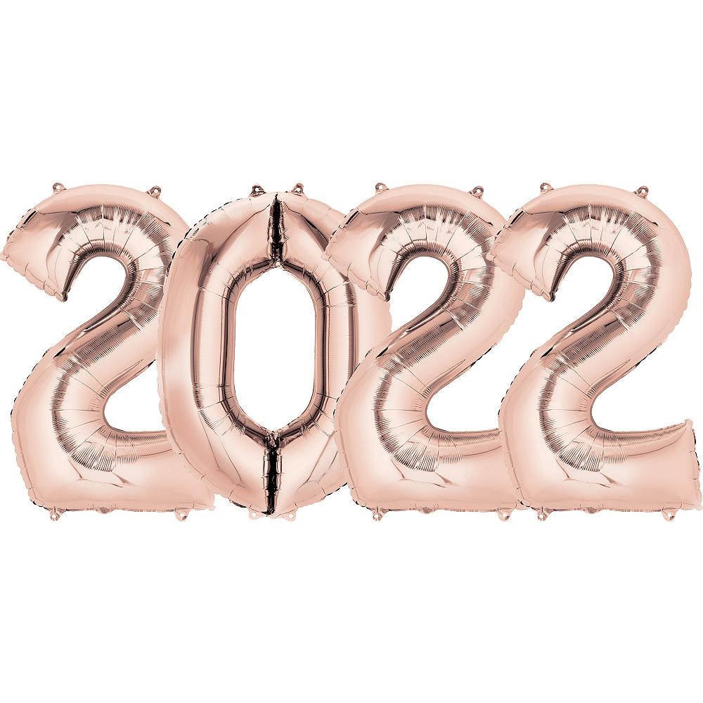 Giant Rose Gold 2022 Number Balloon Kit Image #1