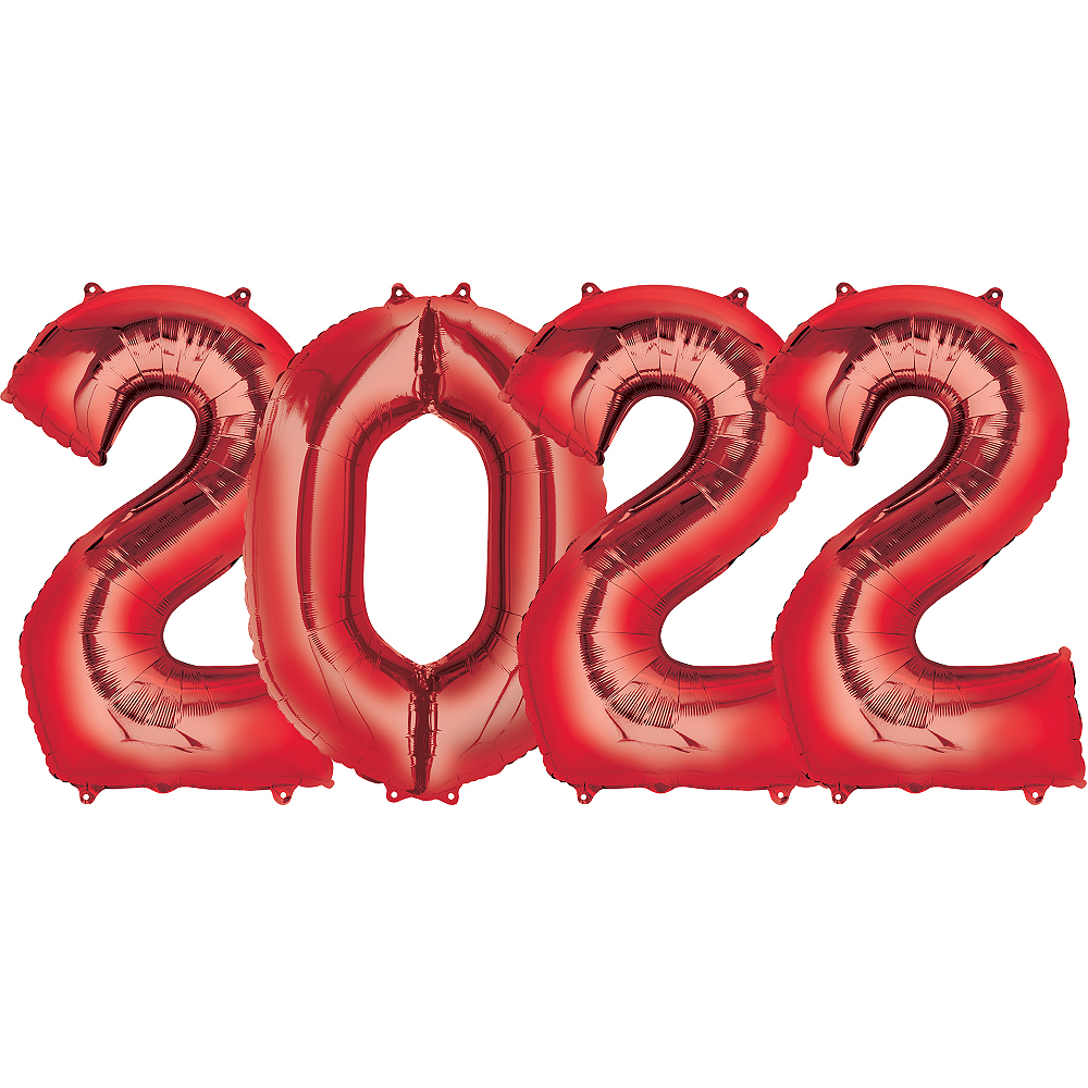 Giant Red 2022 Number Balloon Kit Image #1