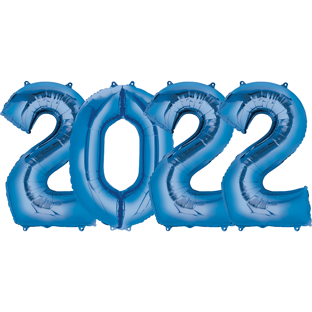 Giant Blue 2022 Number Balloon Kit Image #1