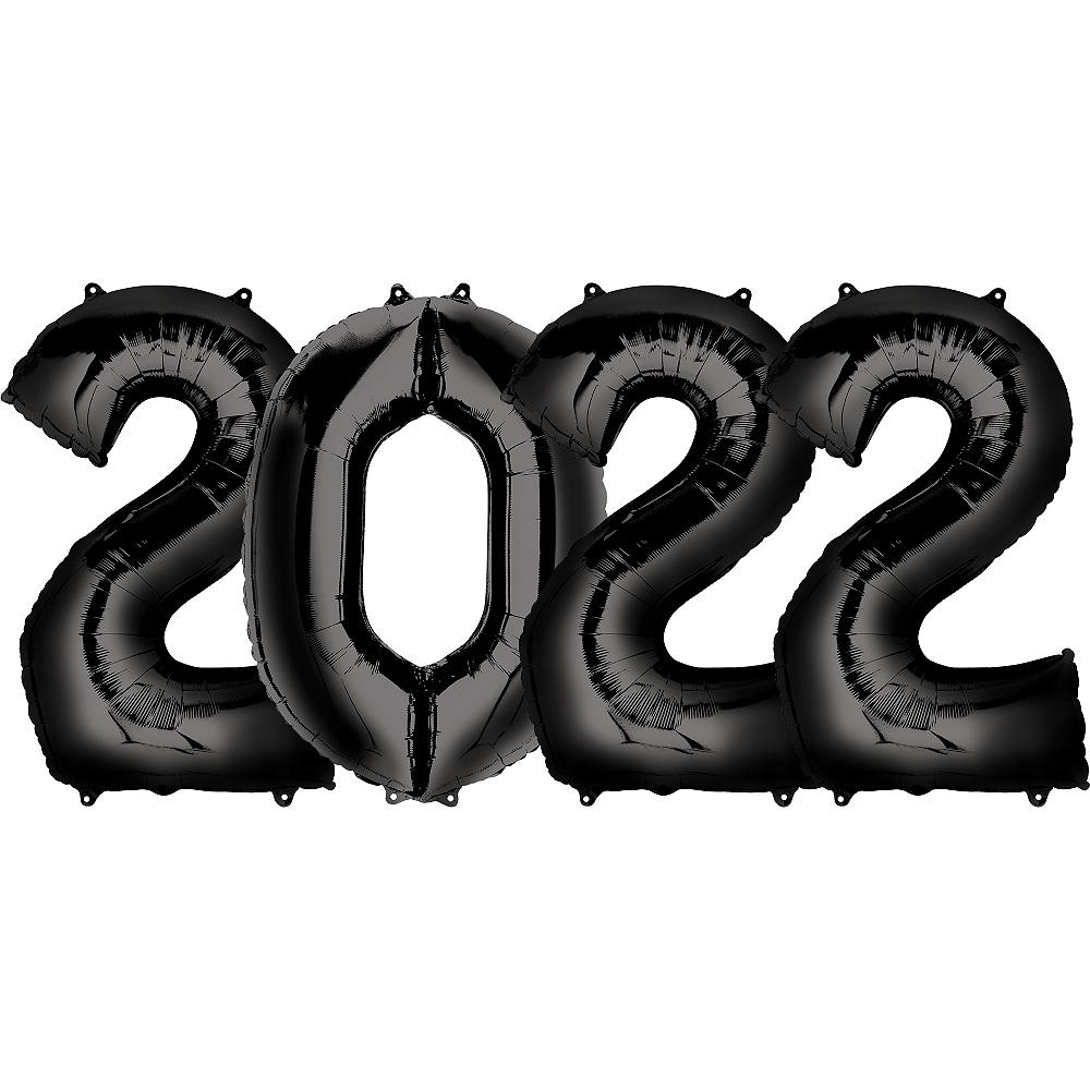 Giant Black 2022 Number Balloon Kit Image #1
