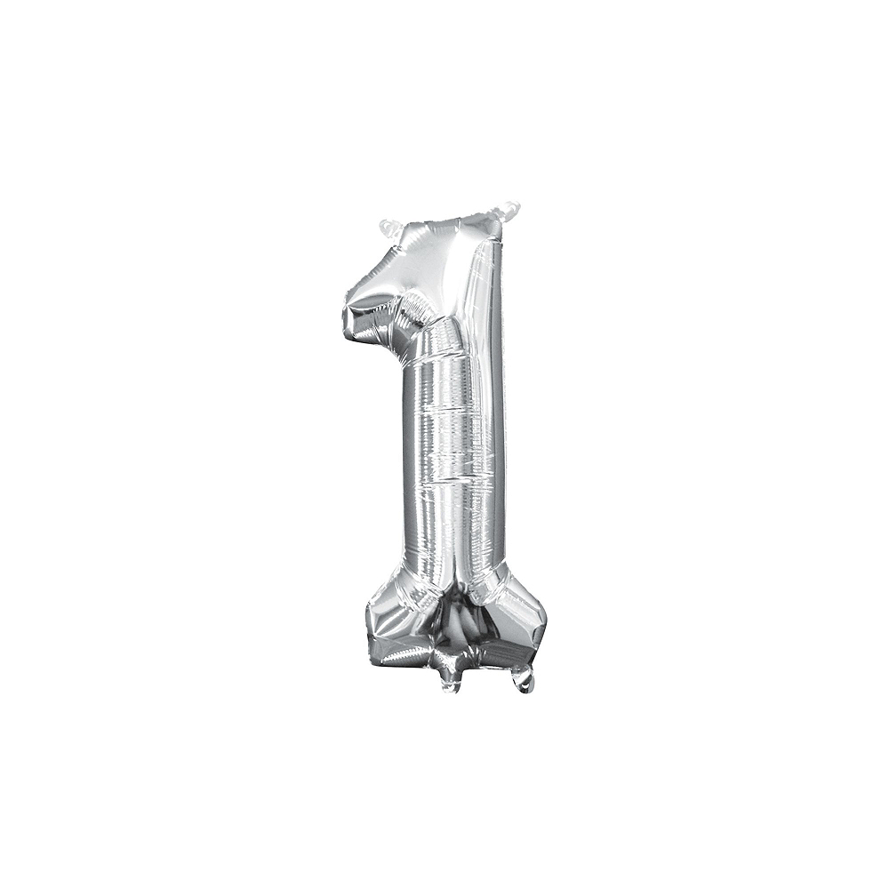13in Air-Filled Silver 2019 Number Balloon Kit Image #4