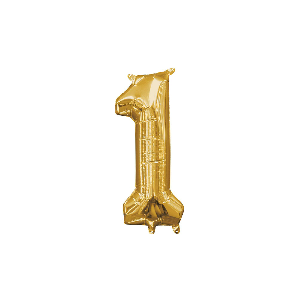 13in Air-Filled Gold 2019 Number Balloon Kit Image #4