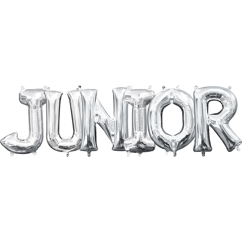 Air-Filled Silver Junior Letter Balloon Kit Image #1