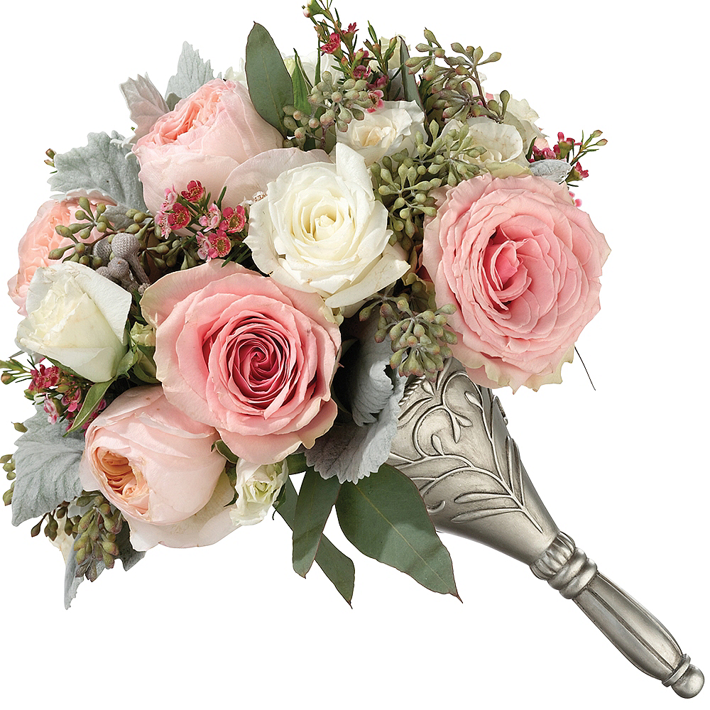 Nav Item for Silver Wedding Bouquet Holder Image #1