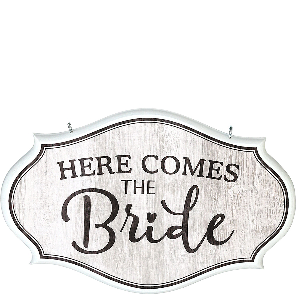 Nav Item for Here Comes The Bride Sign Image #1