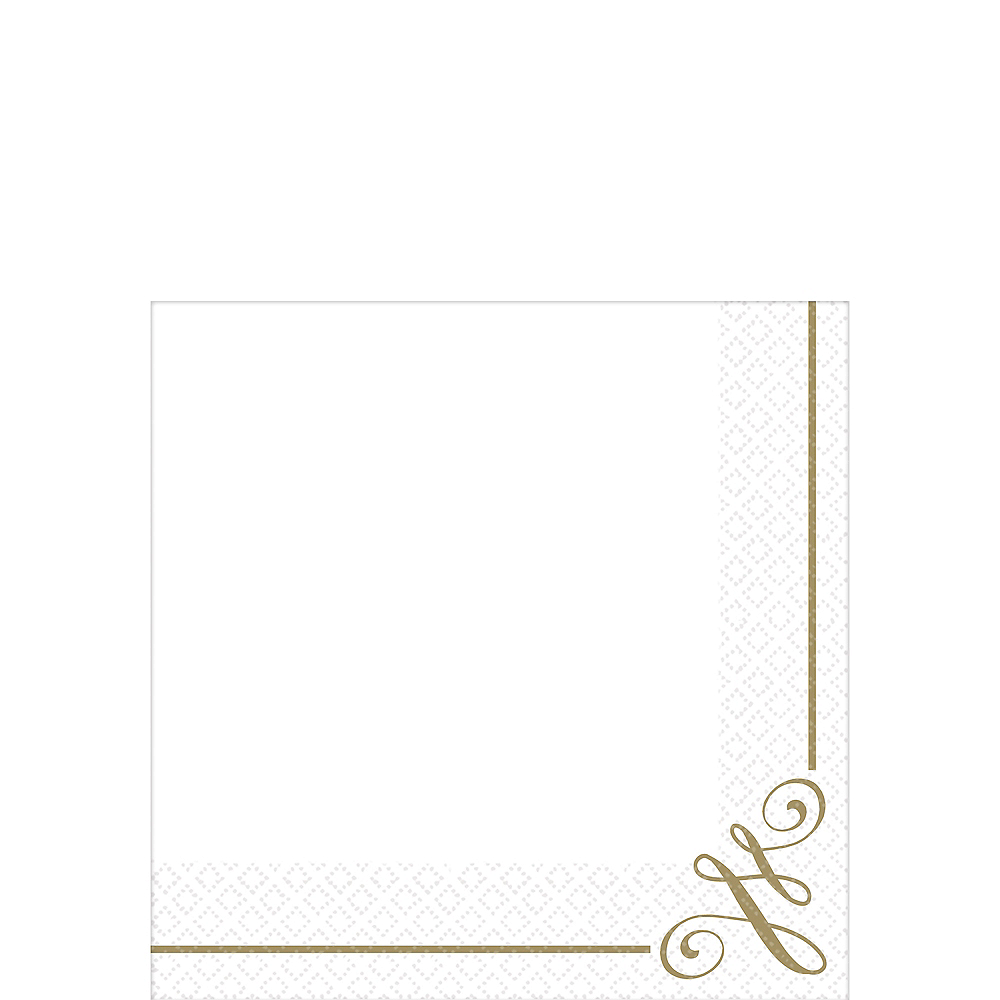 Nav Item for Gold Scroll Premium Beverage Napkins 16ct Image #1