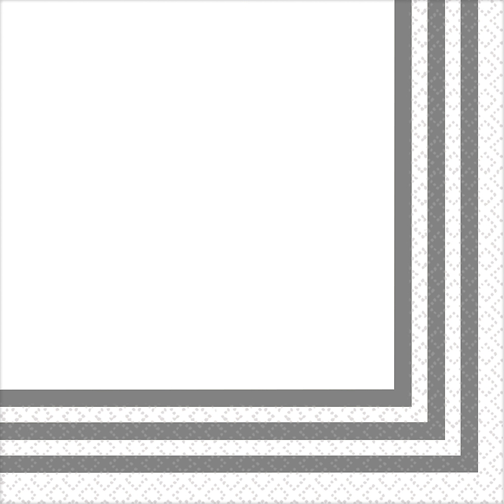 Silver Striped Premium Dinner Napkins 24ct Image #1