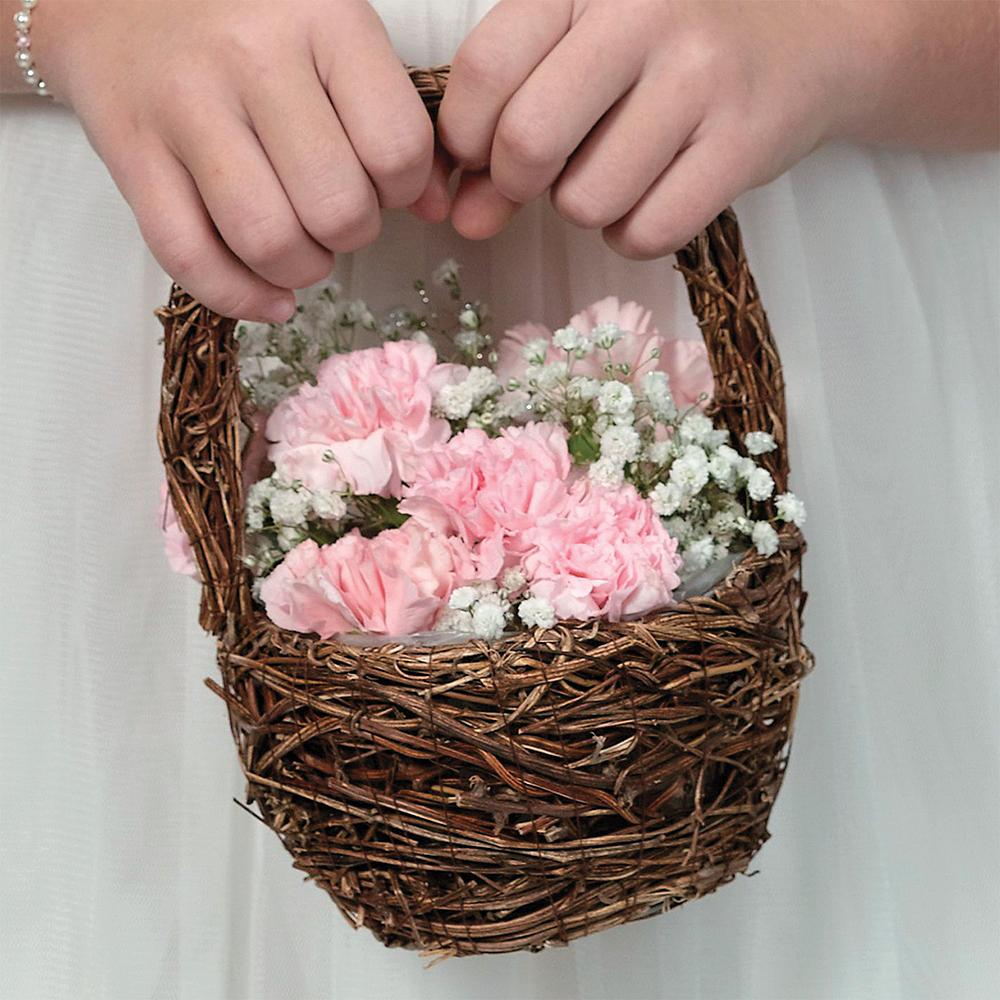 Rattan Flower Girl Basket Image #2