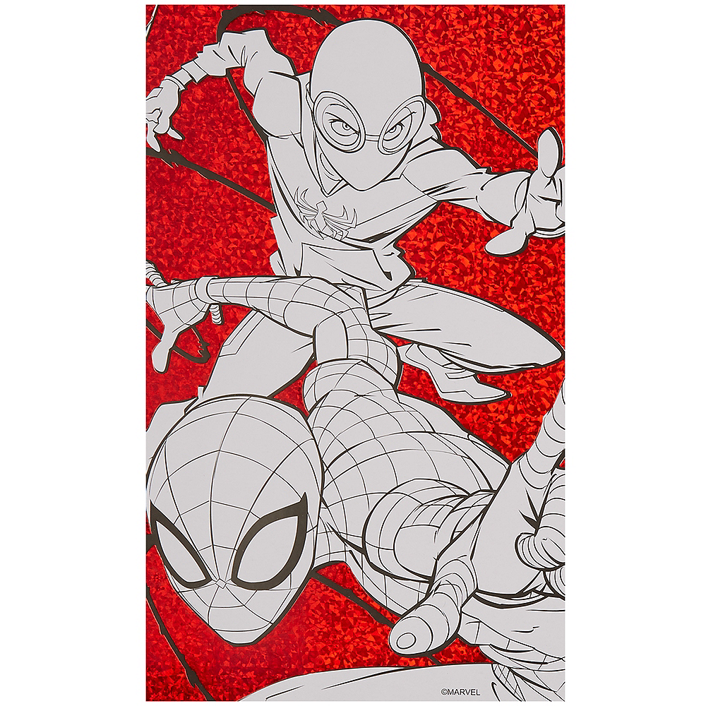 Spiderman 3 Coloring Poster With Markers 2ct Party City