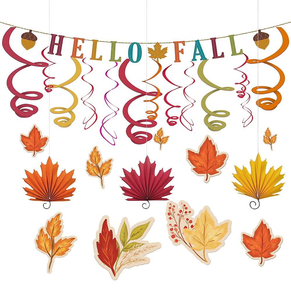 Fall Leaves Hanging Decorating Kit Image #1