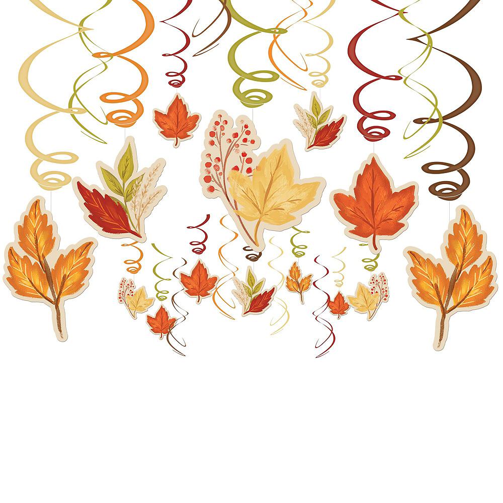 Fall Leaves Hanging Decorating Kit Image #4