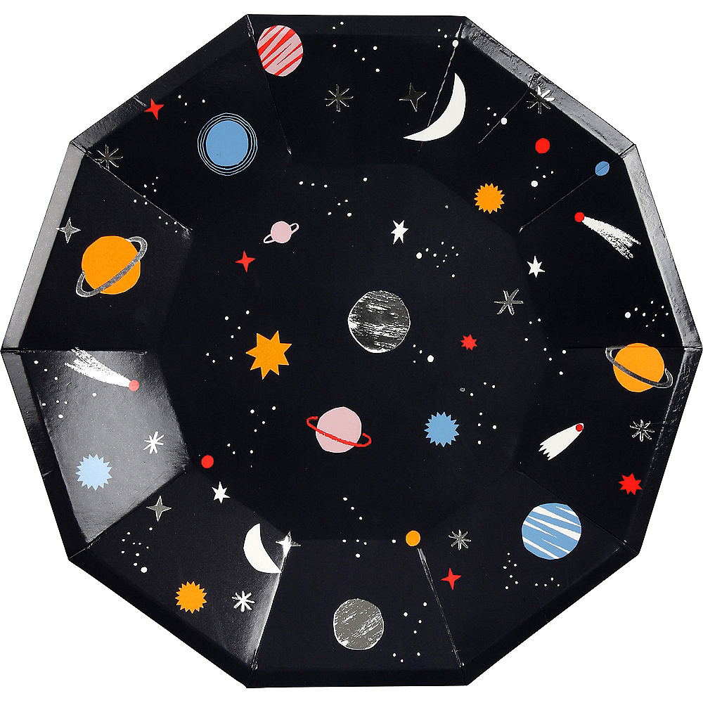 Into Space Lunch Plates 8ct Image #1