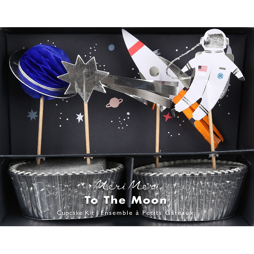 Into Space Cupcake Decorating Kit for 24 Image #1