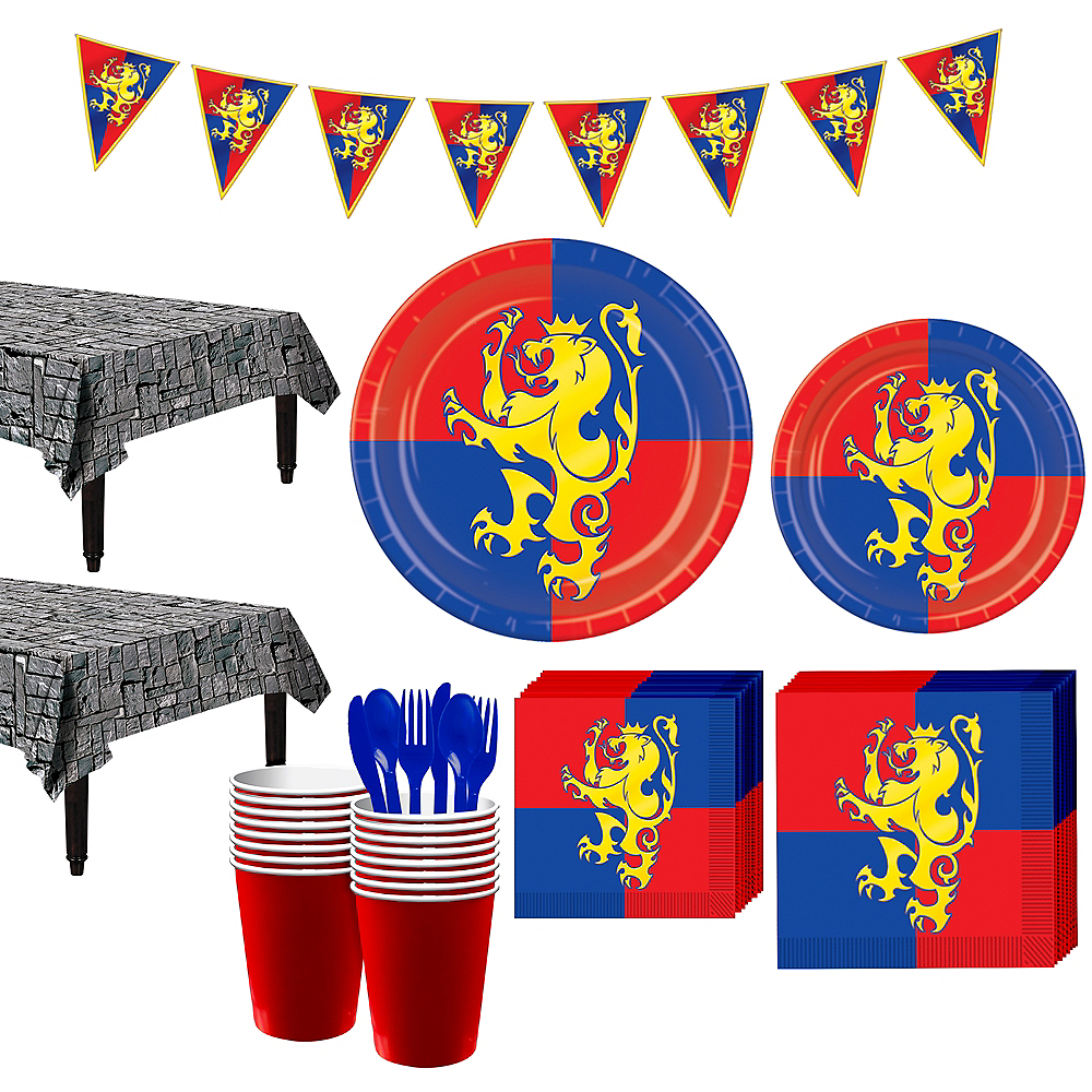 Medieval Crest Party Kit for 24 Guests Image #1
