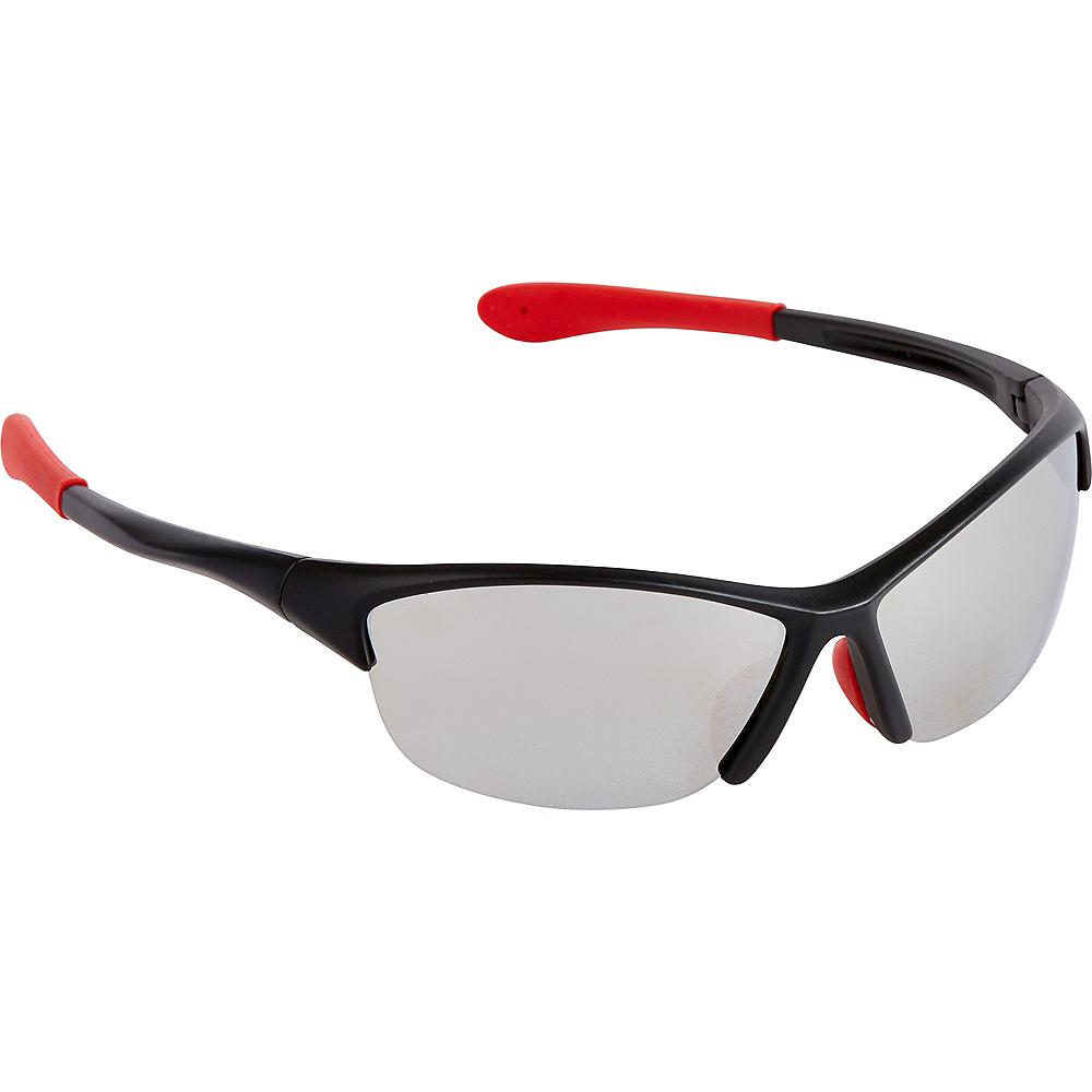 Black & Red Sports Sunglasses Image #1