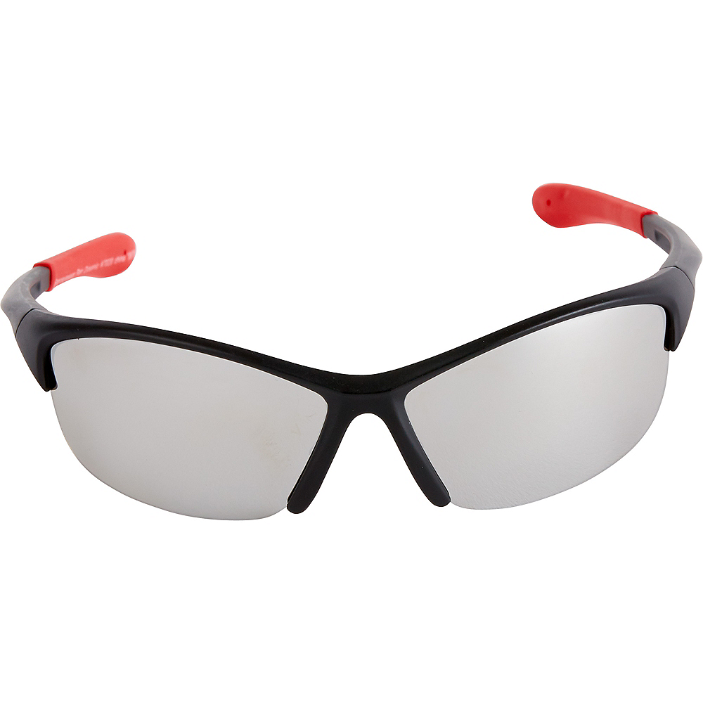 Black & Red Sports Sunglasses Image #2