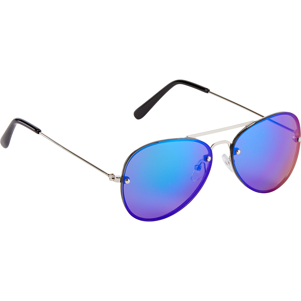 Reflective Blue Sunglasses Image #1