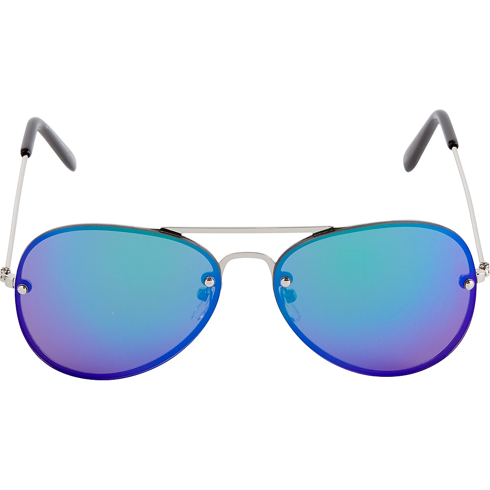 Reflective Blue Sunglasses Image #2