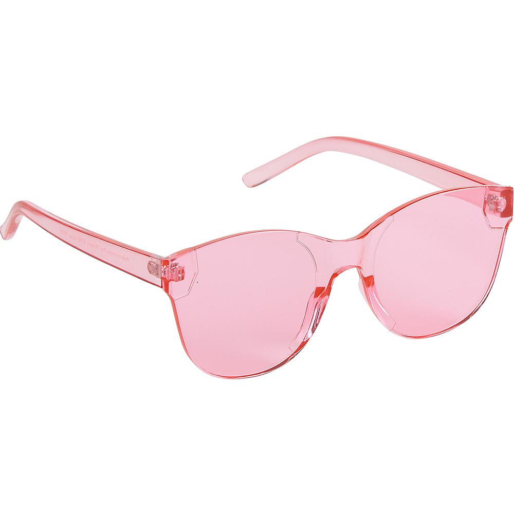 Pink Transparent Sunglasses Image #1