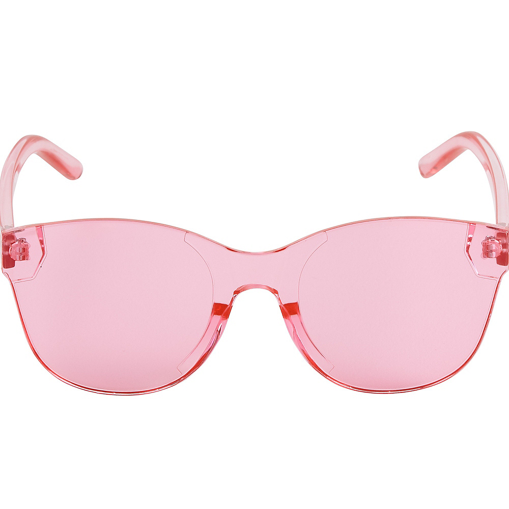 Pink Transparent Sunglasses Image #2