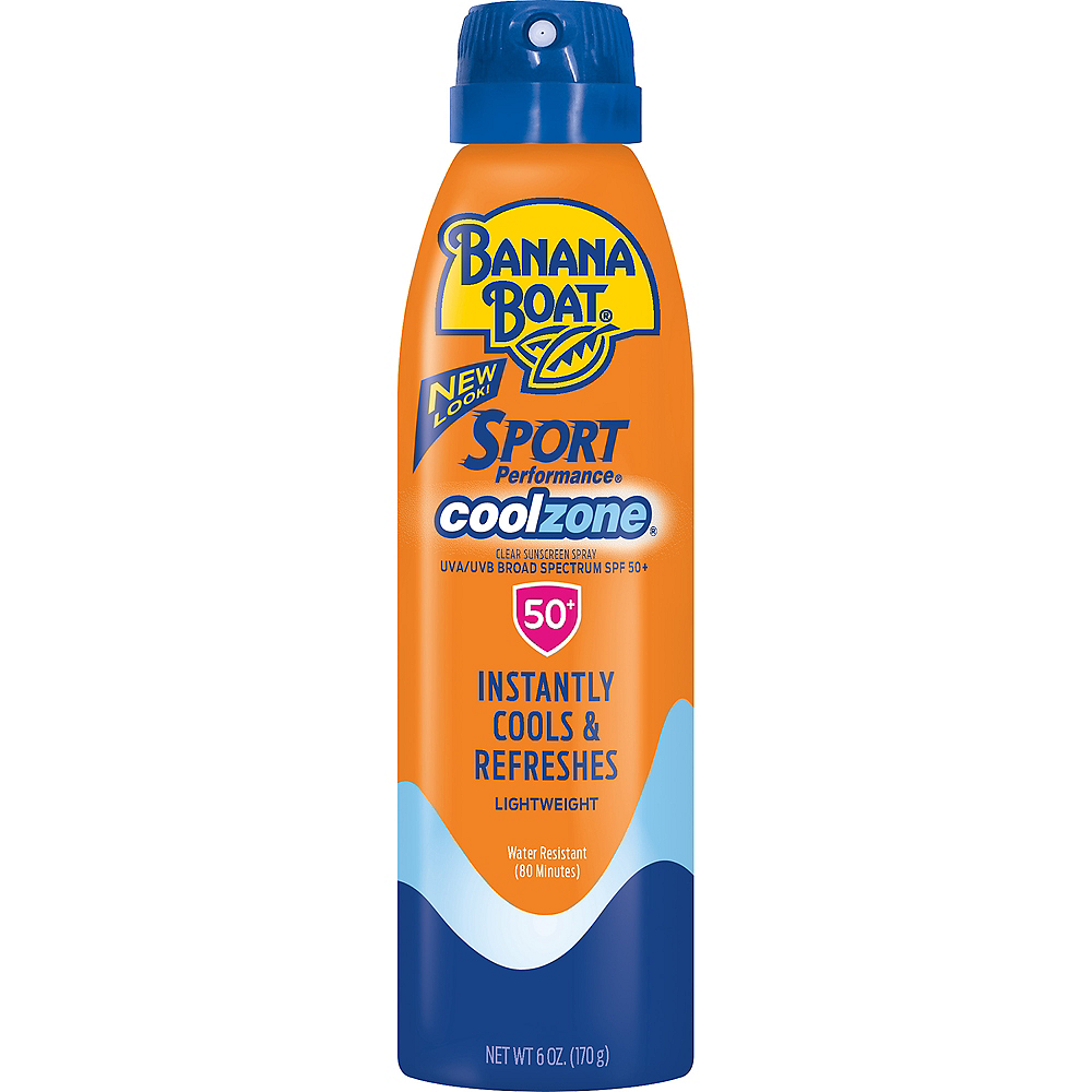 Banana Boat Sport Performance Cool Zone Spray Sunscreen SPF 50 Image #1