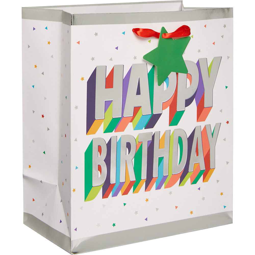 Small Paper Here's to Your Birthday Gift Bag Image #1