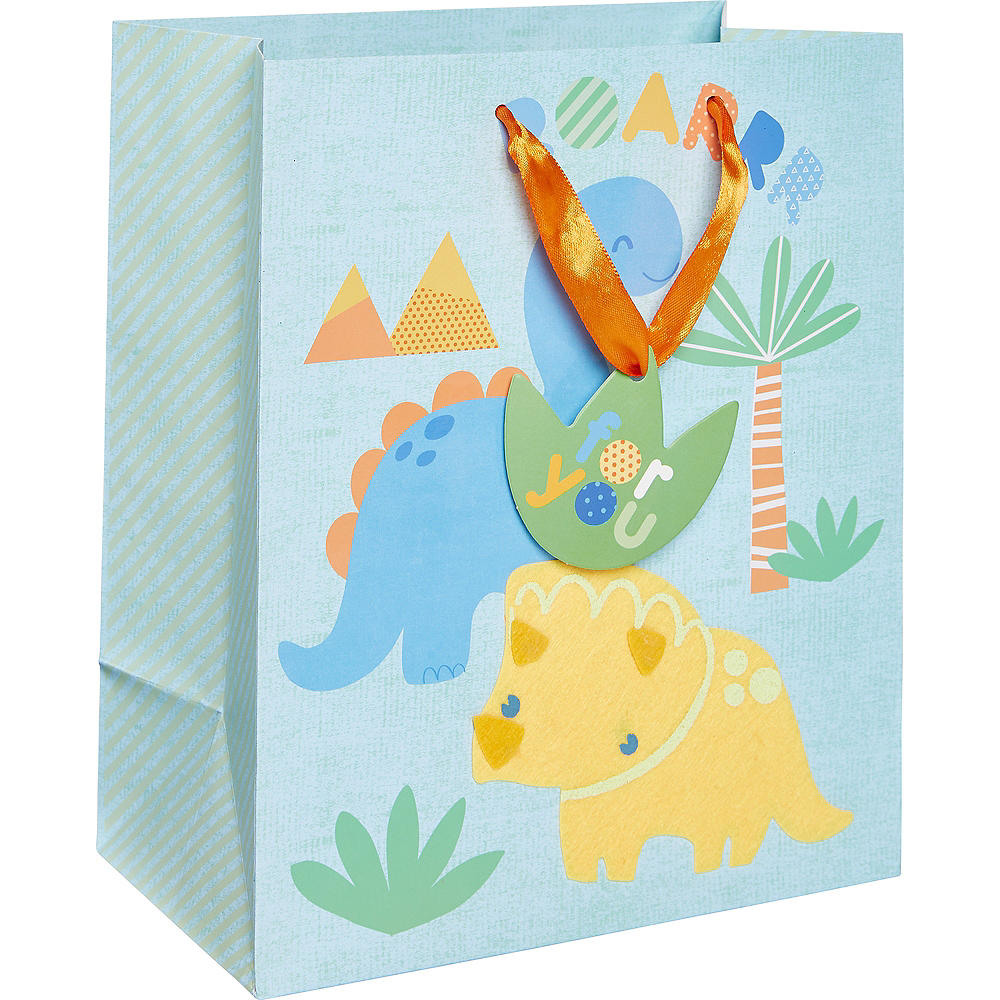 Small Glossy Friendly Dinosaurs Gift Bag Image #1