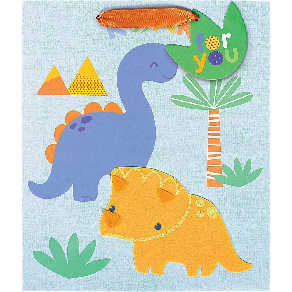 Small Glossy Friendly Dinosaurs Gift Bag Image #2