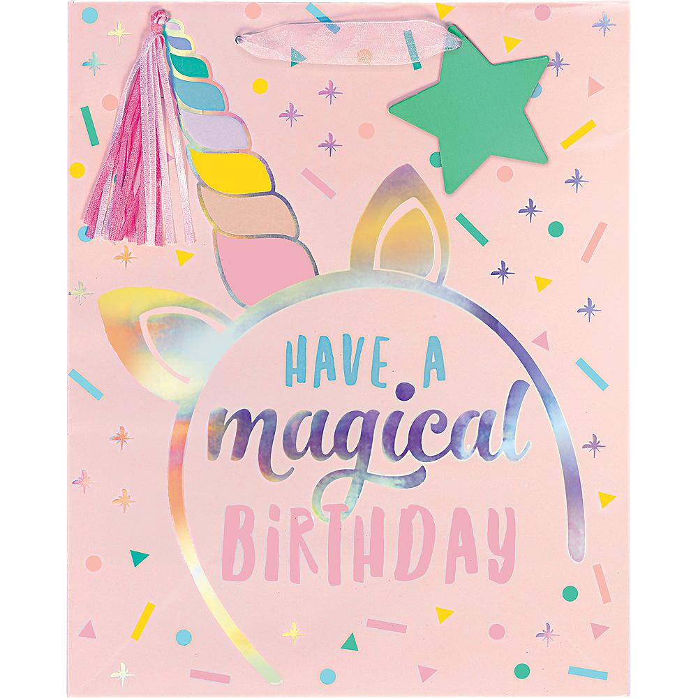 Medium Glossy Magical Unicorn Birthday Gift Bag Image #2