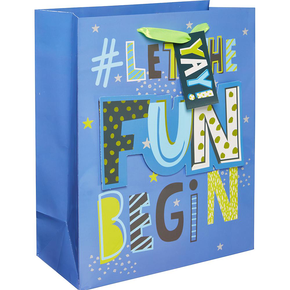 Medium Glossy Let the Fun Begin Gift Bag Image #1